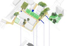 Urban renewal development masterplan and Green Wayfinding