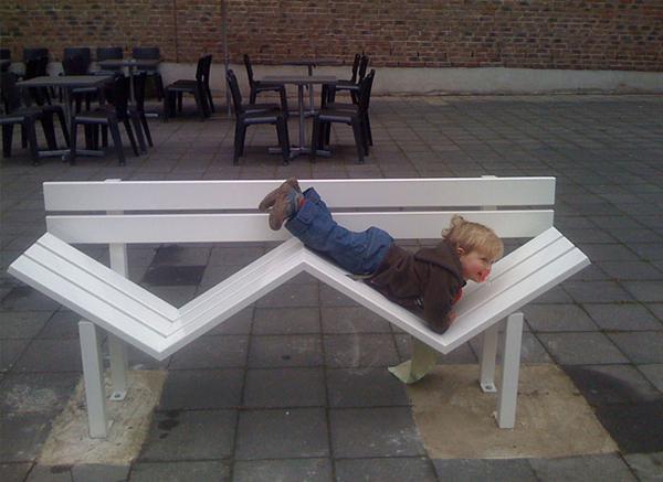 """丹麦艺术家jeppe hein:公共长椅的另类设计-""""街头长椅图片"""