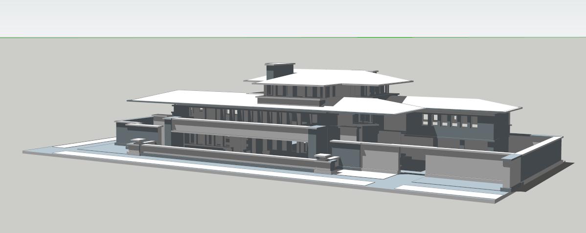 罗宾别墅---著名建筑sketch模型