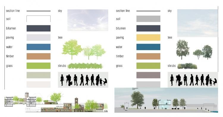 国外psd植物平面图+立面图素材