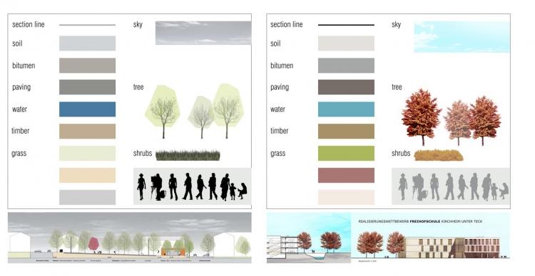 小清新风格的国外psd植物平面图 立面图素材-ps素材库