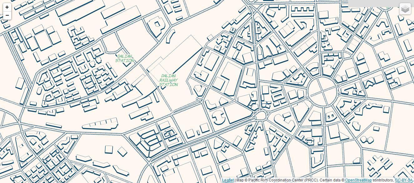 城市俯视图-Mapbox地图赏析 Mapbox底图欣赏 有了它,我的分析图